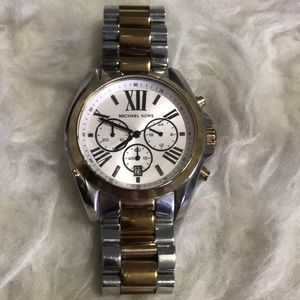 Michael Kors Large men's two tone watch